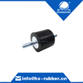 Black rubber shock absorber with two screws