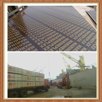 AA grade low price brown film faced plywood with brand name