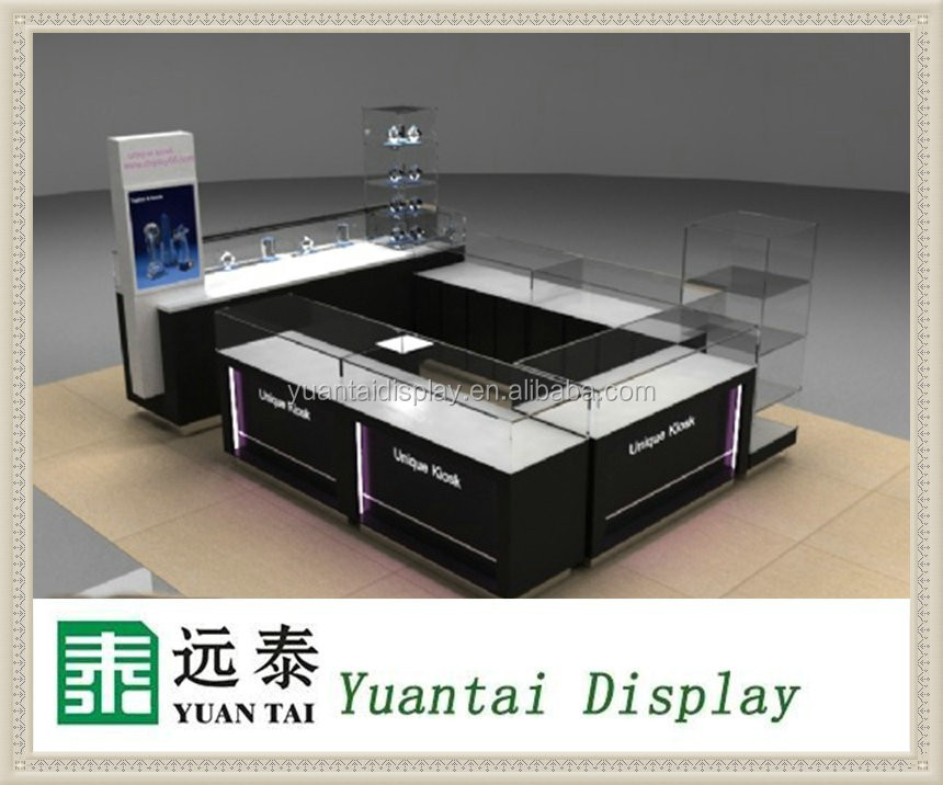 customized modern high end unique design jewelry kiosk for mall