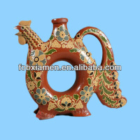Ceramic handmade pottery animal shaped vases