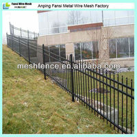 Hot dip galvanized solid metal fence panel
