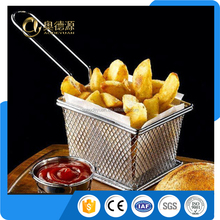 Best Utensils Stainless Steel Deep Fry Basket Round Wire Mesh Fruit Strainer