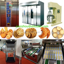 Hot Sale Bakery Equipment 32-Tray 1 trolley Prices rotary rack oven