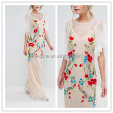Bohemian Style Mother of the Bride Embroidered Sexy Wedding Dress Bridal Gown hsd2130