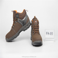 Genuine Leather Upper Material and PU Outsole Material steel toe safety shoes