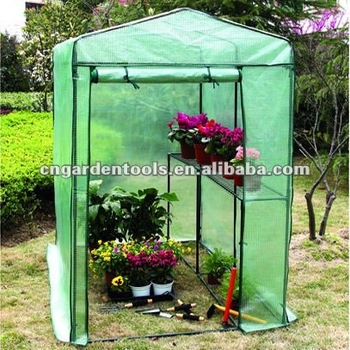 2-Shelf Steel Frame Walk-in Greenhouse