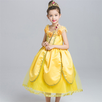 Beauty and Beast Ball Gown Cosplay Dress for Kids Carnival Party Birthday