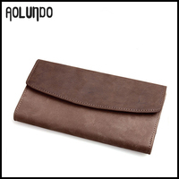 Crazy horse leather long wallet mens leather wallets made in india