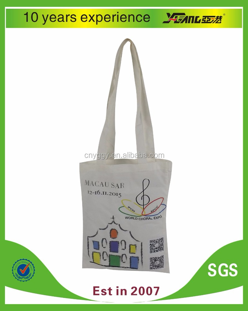 Recyclable and Eco-friendly canvas cotton shopping tote bag