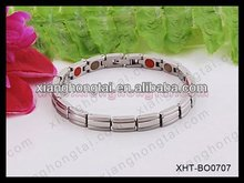 Stainless steel bracelet ,inlay germaniums, negative ion , Far infrared , Strong magnets, 4 in 1