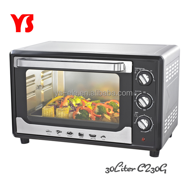 30L best selling convection toaster oven with inside lamp