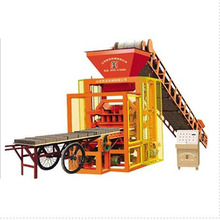 Construction equipment QTJ4-26A semi-automatic clay brick machinery making in india