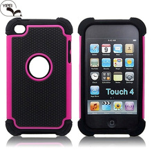3in1 Phone Case For iPod Touch 4 Hybrid Combo Case For iPhone Touch 4