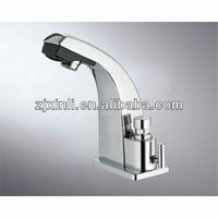 Luxury Brass Electric Infrared Mixer, Deck Mounted Sensor Tap For Hot & Cold Water, Automatic & Delay 2 Functions