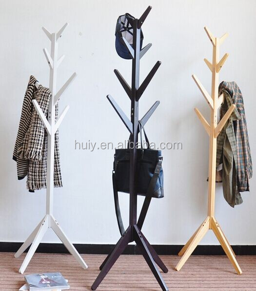Home Furniture Unique Design Tree Shape Wooden Coat Racks