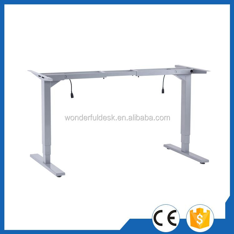 Customized certified fold-in-half electric adjustable table