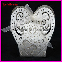 Laser carving candy box, wedding favor box