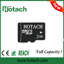 T-flash 2gb memory card,100% real capacity and custom accepted