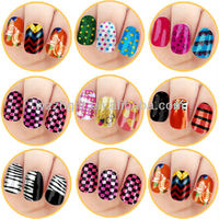 Coloring named nail foils sticker of nail accessories
