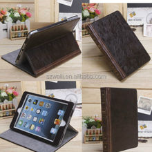 Retro Ancient Vintage Old Book Folio Stand PU Leather Case Cover for iPad mini
