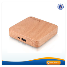 AWC910 Square Wooden Mobile Charger 7600mAh Power Bank 5V Power Supply Battery Backup