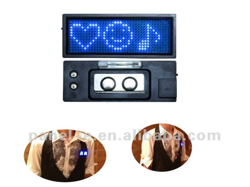 (Direct manufacter) waiters led name badge,led battery Digital display ,led signboard