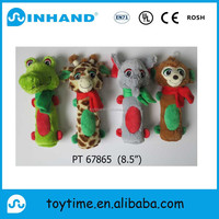 New Designed Plush Stuffed green small frog /monkey toys for baby