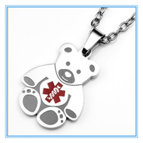 Yiwu Aceon Stainless Steel medical alert symbol bear dog tag