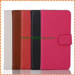 Luxury Litchi Grain Flip Genuine Leather Case for iphone 7