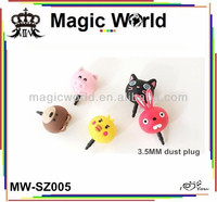 lovely 3d bear rabbit cute earphone dust plugs