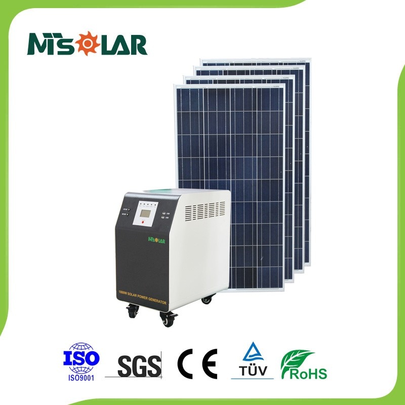 2016 New Products Solar Power Generator With Mobile Solar