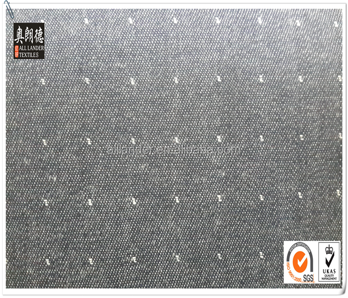 Raindrop Jacquard Denim Fabric