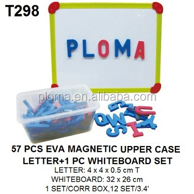 57pcs Kids Custom Alphabet EVA Foam Magnetic Uppercase Letters and 1pc Whiteboard