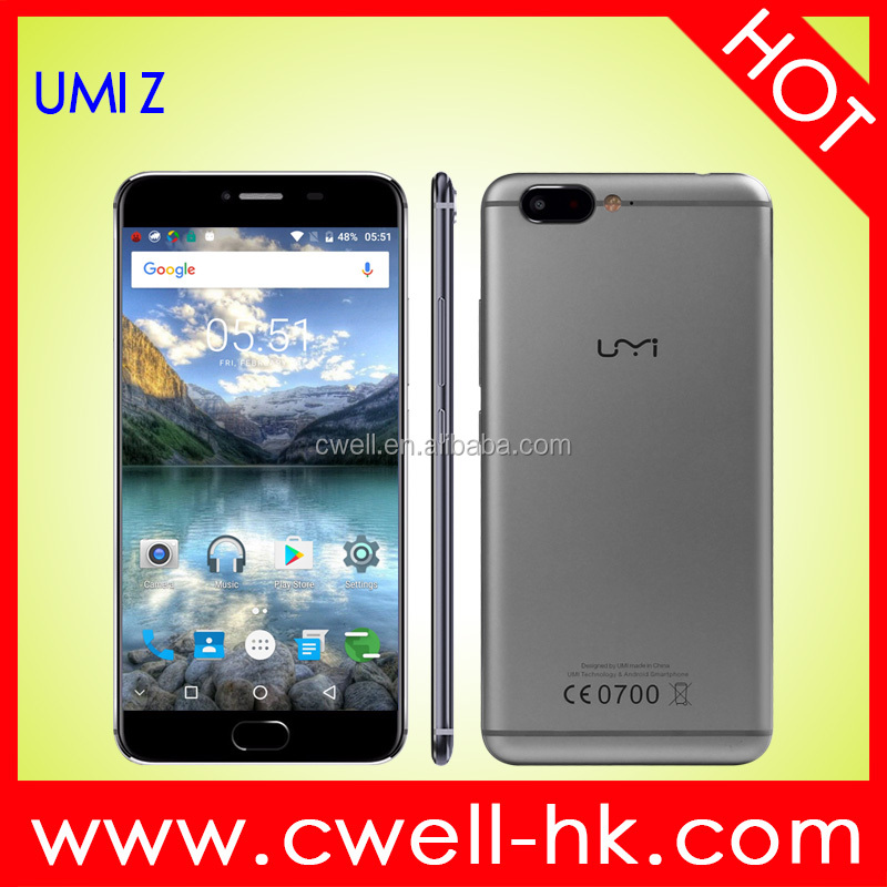 UMI Z 5.5 Inch FHD Screen 32GB ROMFront/Rear Double 13.0MP Cameras MTK6797 Helio X27 Deca Core Android Smartphone