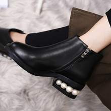 Warm Winter Genuine Leather High Heel Fashion Women Walking Boots Sexy Girl Ladies Boots Shoes