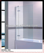 New Design Product!!Glass Bath Screen/Aluminium Hinges For Shower Screen