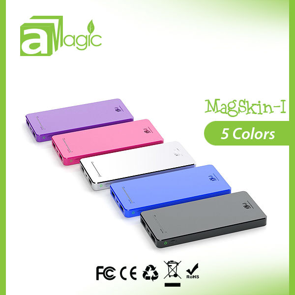 MagSkin-I 6500mAh 2.1A dual usb output 2013 hottest power bank