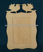 New cheap carved bird shape wooden photo frame