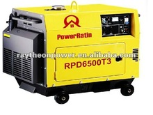 Single cylinder air cooled small silent diesel engine genset 5KVA