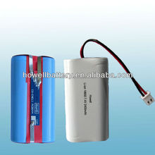 Rechargeable 18650 7.4v 2400mah li-ion battery pack for bluetooth speakers
