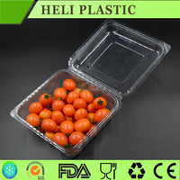 transparent plastic fresh vegetable/fruit folding storage box/container
