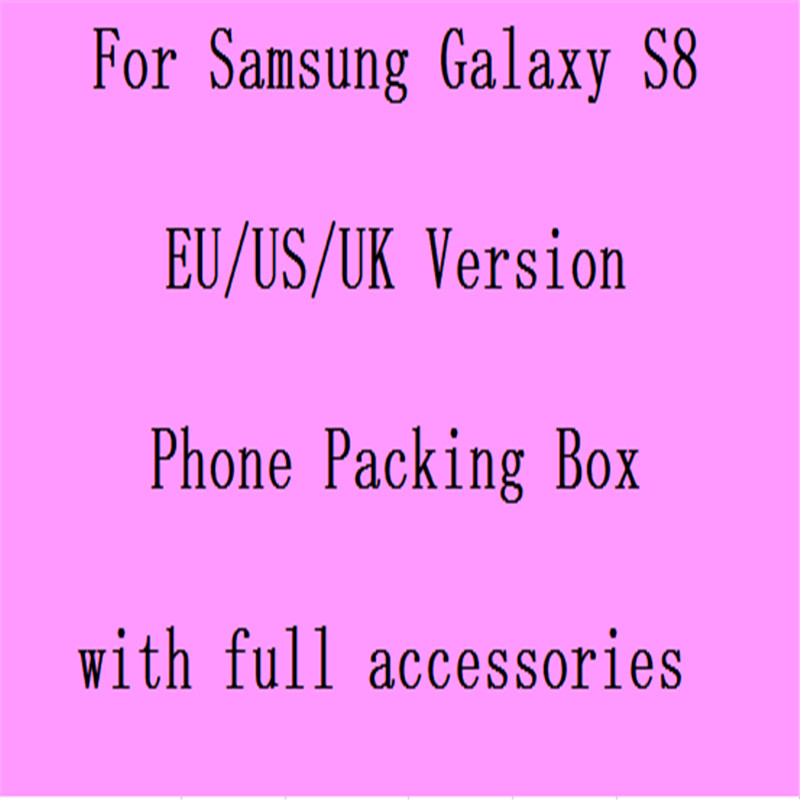 20pcs/lot US,EU Version Retail Package Paper Packing <strong>Box</strong> for Samsung Galaxy S8 with full Accessories