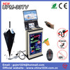 latest innovative technology products umbrella wrapper with led writing board and led Monitor display