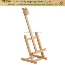 Fashion 18 Inch Tall Stained Wood TableTop Easel Is Great for Painting or Display
