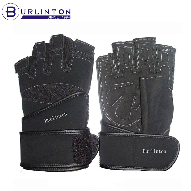 Athletic Works Long Strap Fingerless Weight lifting glove
