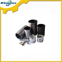 Excavator engine parts Engine Cylinder Liner /piston/piston pin /con rod bearing for Kobelco SK210-8 engine J05E