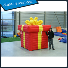 Christmas decoration inflatable gift box /attractive gift box inflatables for sale