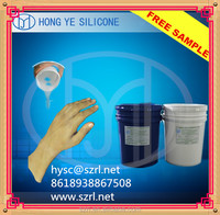 skin safe life casting liquid silicone rubber for hand prosthetic