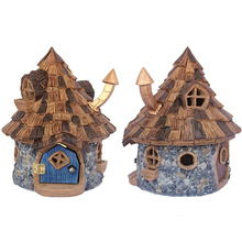 Hotsale handmade natural mini fairy garden resin bird house for sale