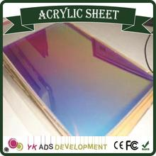 sample Hot Sale Beautiful Iridescent Acrylic Sheet Fluorescent acrylic decoration